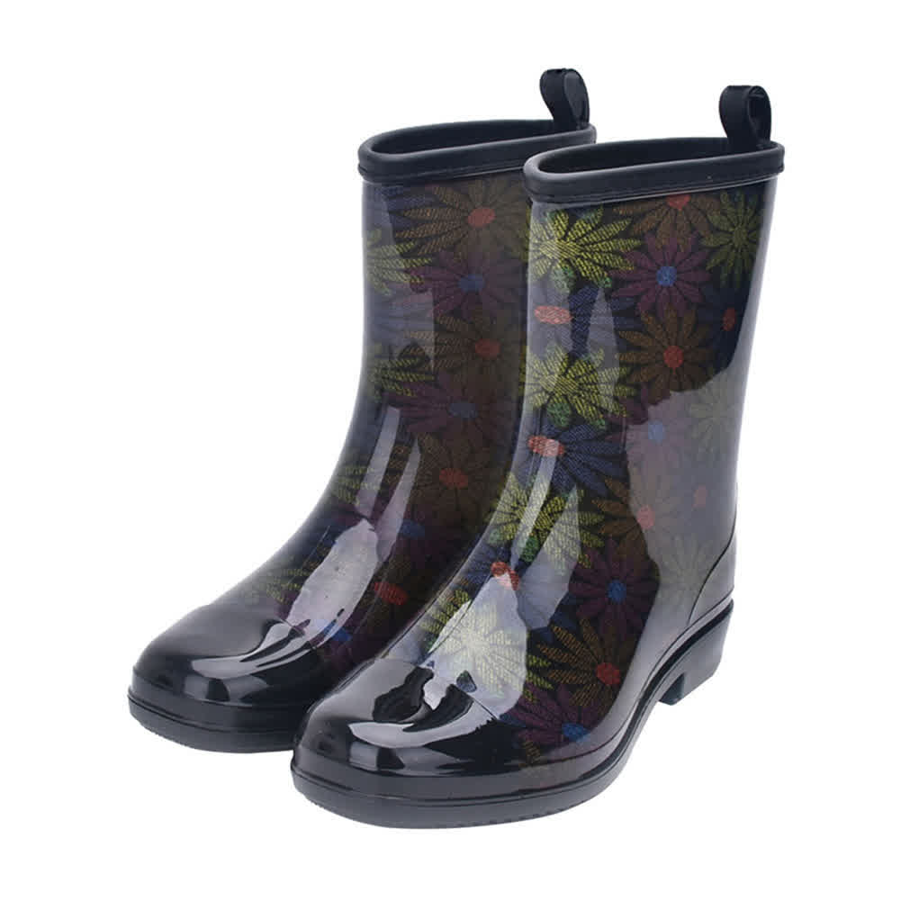 Fashion Water Boots Rain Boots Anti-slip Wear-resistant Waterproof For Women and Lady Color 0158_39