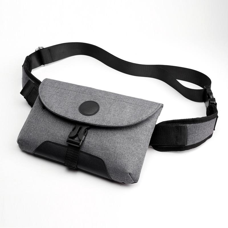 Men Chest Bag High Capacity Single Shoulder Cross-body Outdoor Sports Casual Satchel Dark gray