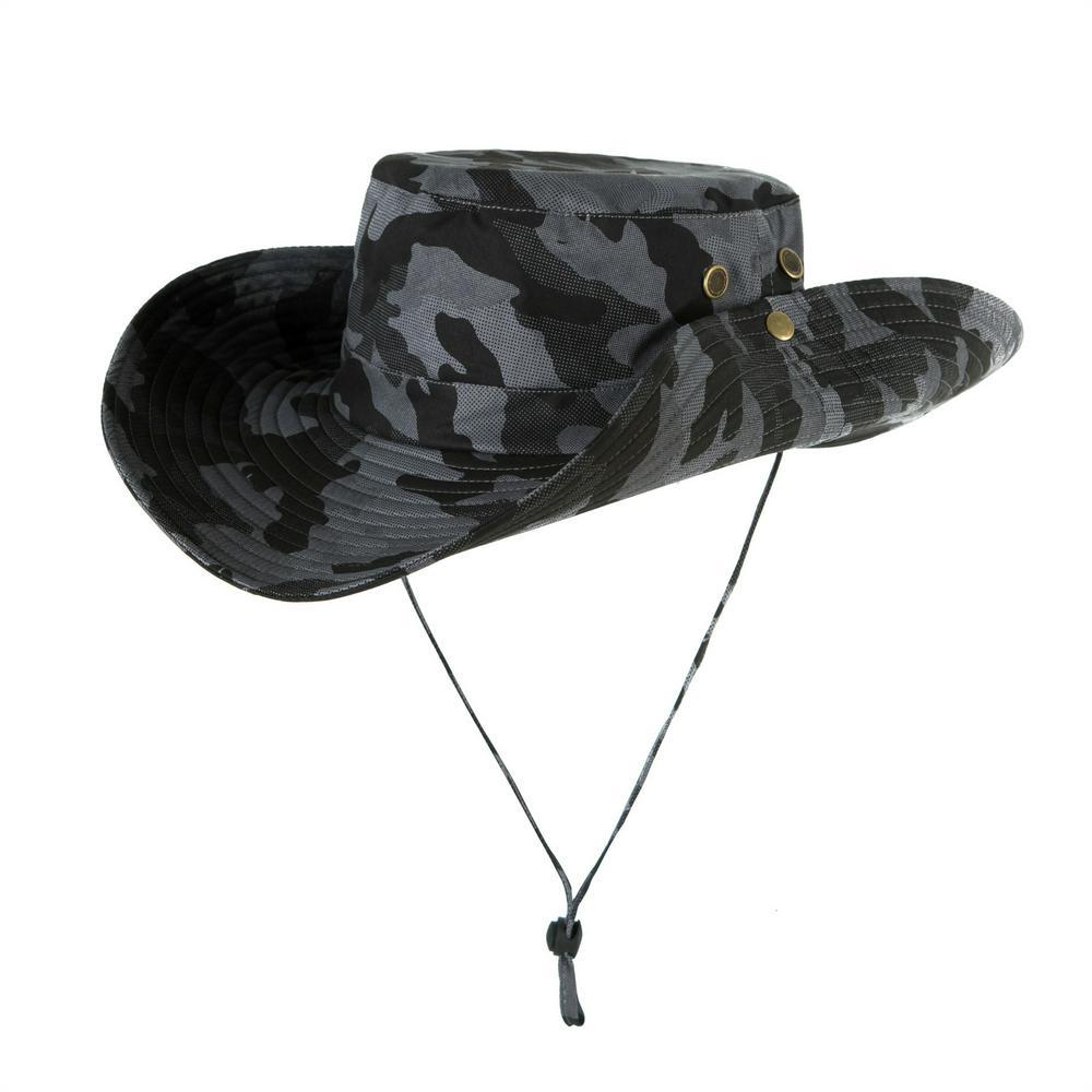 Men Women Summer Hat Outdoor Ultraviolet-proof Fisherman Hat for Travel Climbing Fishing camouflage
