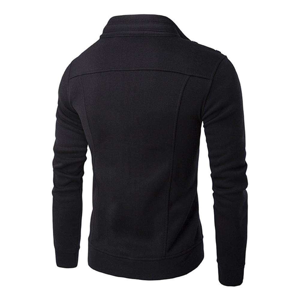 Men Fashion Slim Fit Solid Color Jacket