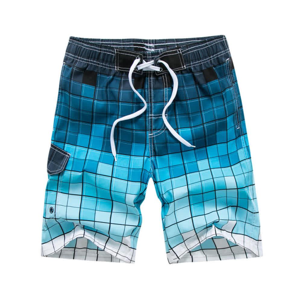 Men Fashion Printing Beach Pants Casual Home Wear Surf Shorts