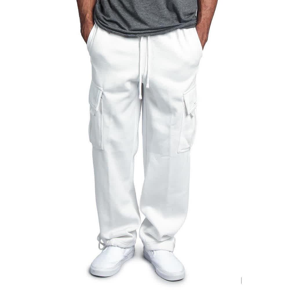 Men Casual Sports Multi Pockets Loose Straight Ove...