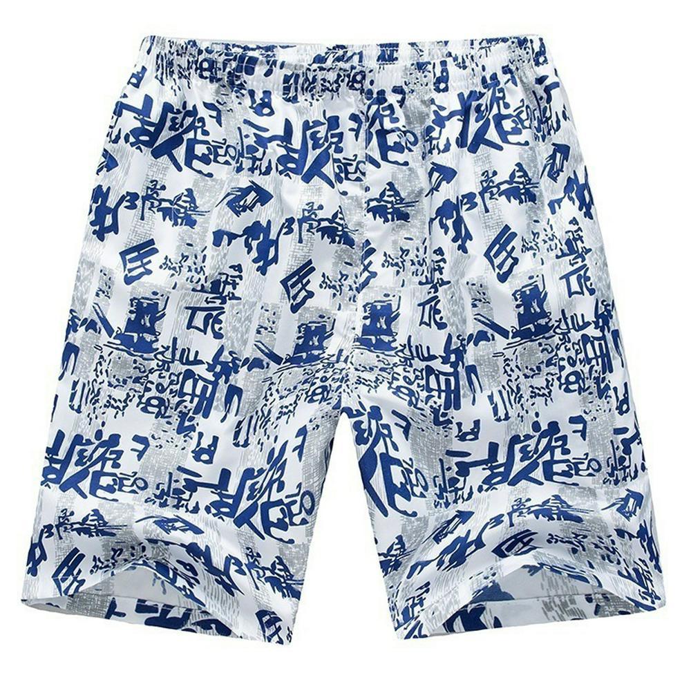 Men Outdoor Breathable Elastic Waist Fashion Printing Beach Shorts