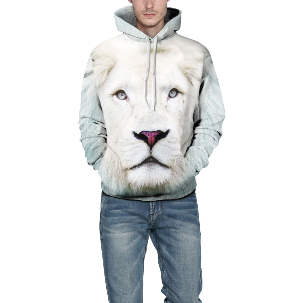 3D Printed Lion Hoodie Cool Men/Women Casual Hooded Pullover