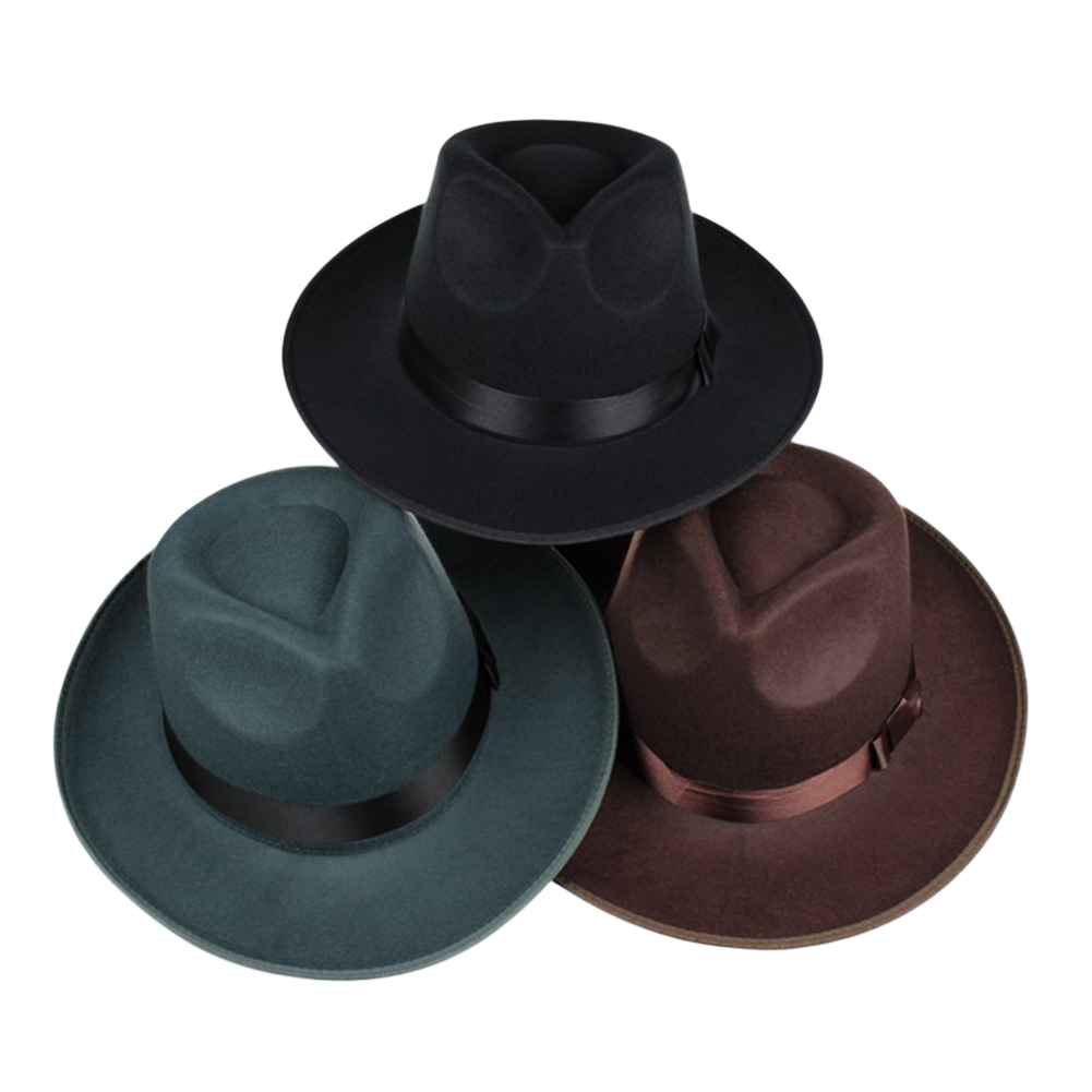 Unisex Wool Felt Fedora Hat