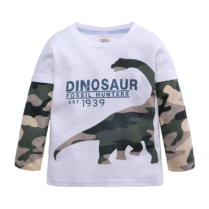 Kids Boys Cartoon Long Sleeve T-shirt