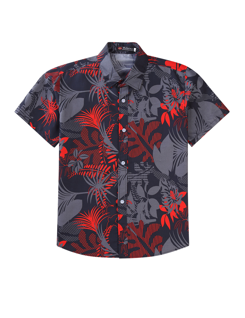 Men Women Hawaiian Summer Casual Printing Couples Short Sleeve Shirt