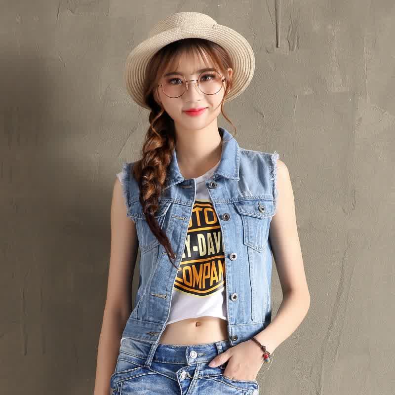 Lady Cool Denim Slim Fit Jacket dark blue_XXL