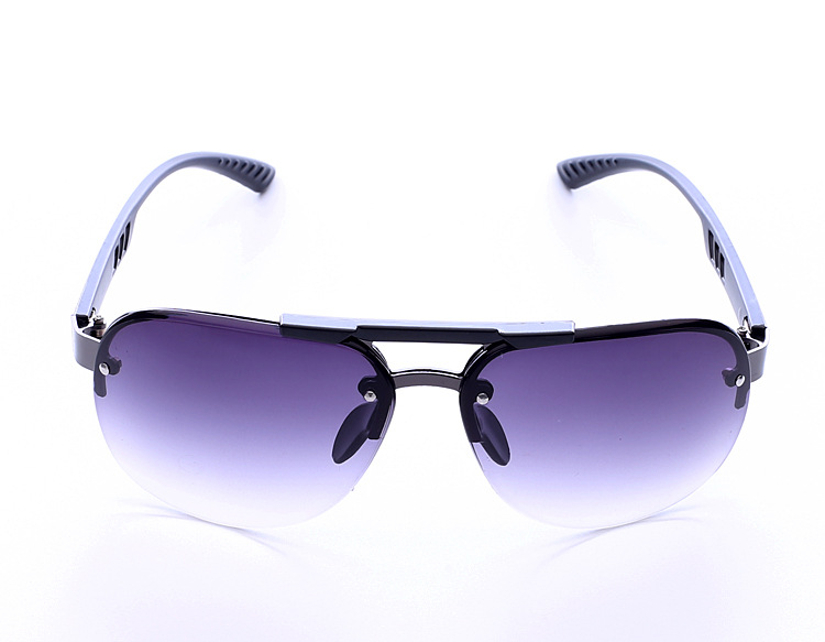 Men Fashion Classic UV400 All-macth Frameless Anti-uv Driving Sunglasses C1 full gray