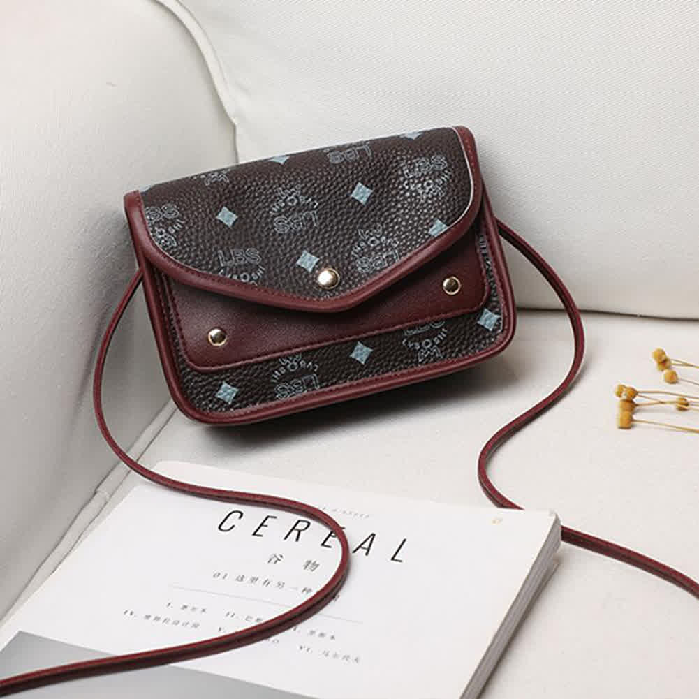 Casual Hit Color Small Square Shoulder Messenger F...