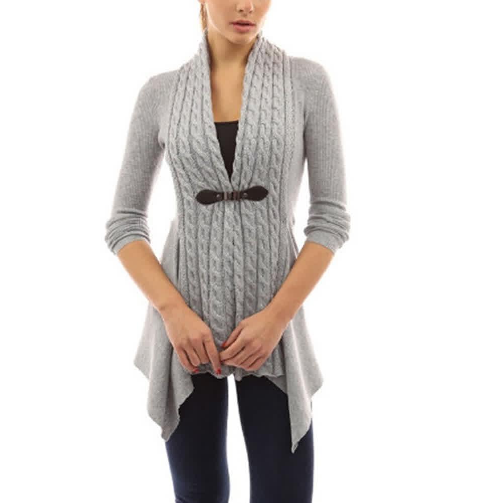 Women Cardigan Knitted Sweater
