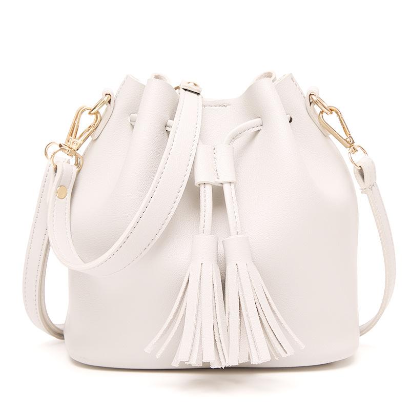 Women PU Leather String Shoulder Bag - Brown