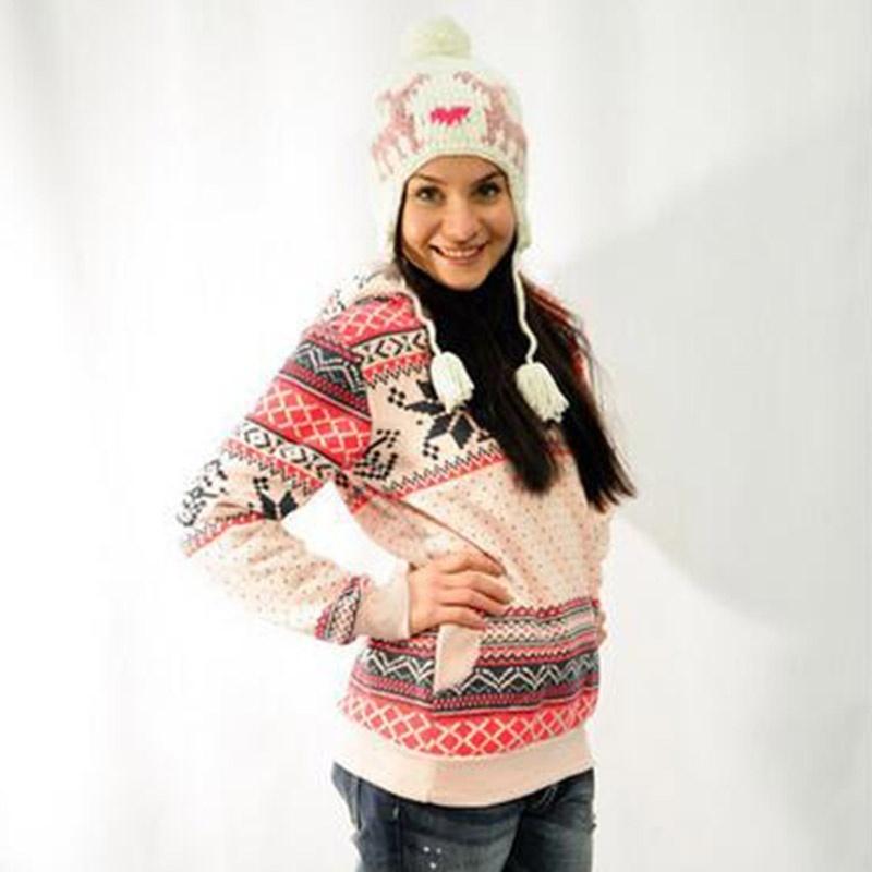 Christmas Women Snowflake Hoodie