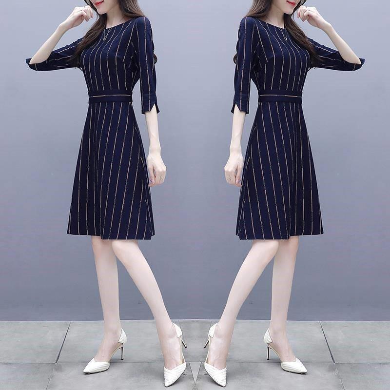 Women Stripe Printing A-line Dress