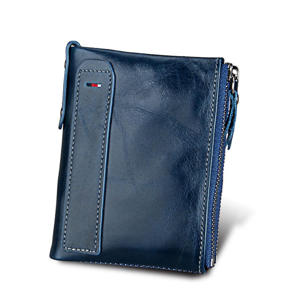 Genuine Cowhide Leather Men Wallets