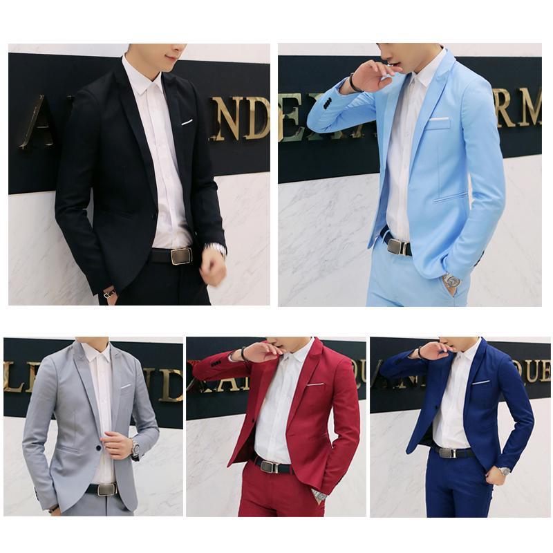 Men Casual Business Jacket Slim Fit Coat