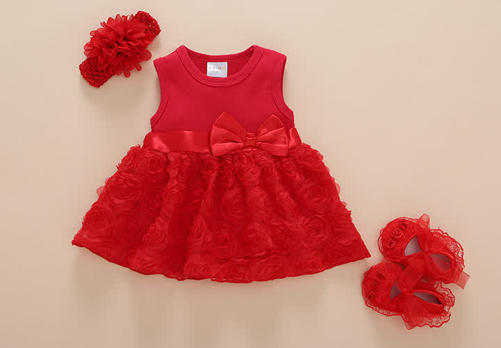Princess dress set - Red 3M 0-3 months