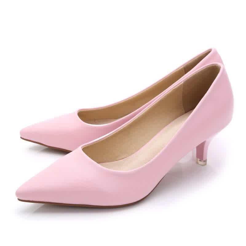 Women High Heels Ladies Pointed Toe Heeled Shoes Soft Leather Fashion Pumps For Woman Office Shoes