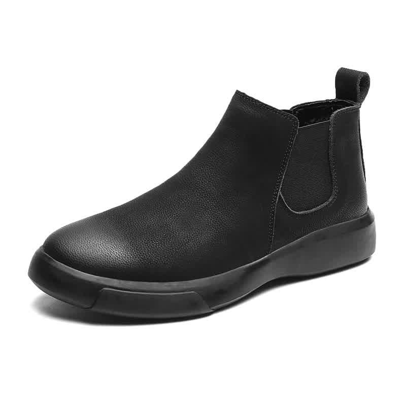 MARSON Men's Casual Flats Boots Short Shoe Ankle S...