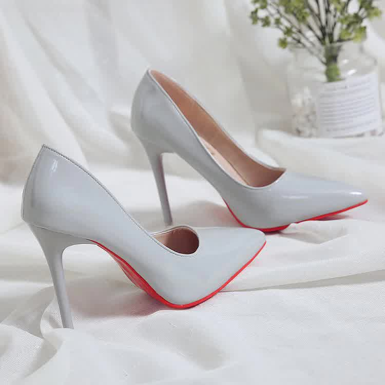 Hot Sell Classic Women Shoes Pointed Toe Pumps Patent Leather Dress high Heels