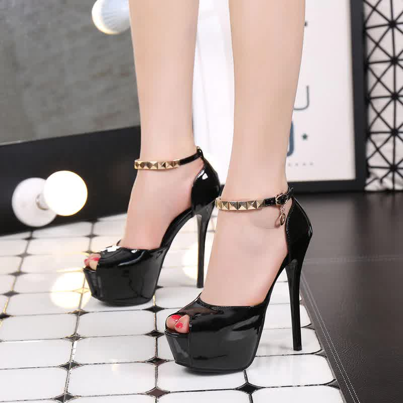 Peep Toe Platform High heels Pumps Women Shoes