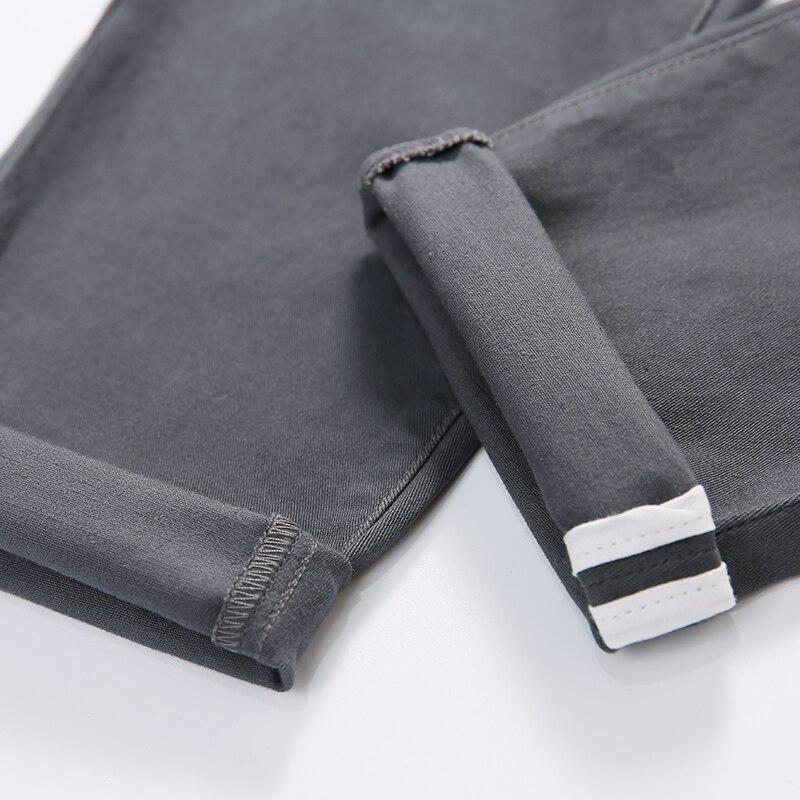 Men's cotton elastic casual pants men solid color Ankle-Length Pants high-quality business trousers male four seasons pant