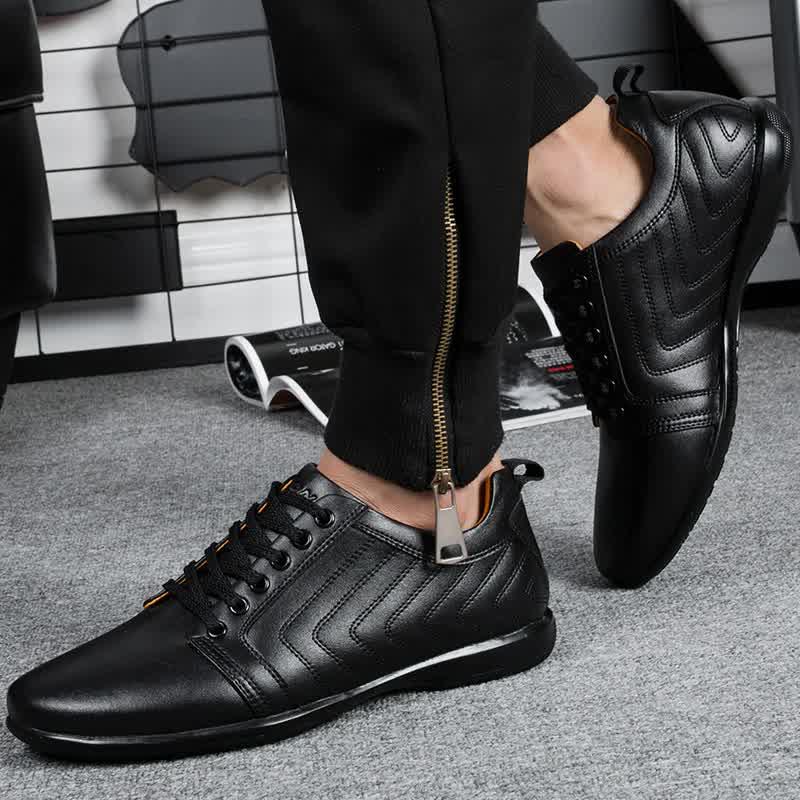 Classics Style Men Casual Shoes Lace Up Breathable Men Shoes Light Soft Male Flat Shoes