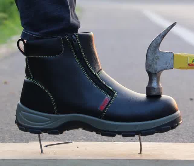 High Waterproof Non-slip Steel Toe Warm Work Safet...