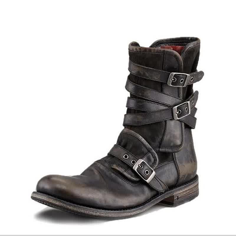 Men male man plus size ankle boots matin shoe mens vintage PU leather low heels zapatos de hombres personlizar zapatos