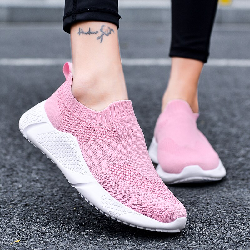 Men Comfortable Slip On Trainer casual Lazy Shoes Lightweight Couple Sock Sneakers Zapatillas Hombre Footwear