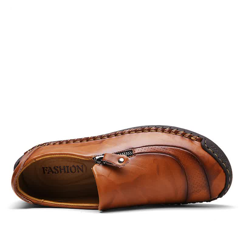 Leather Men casual shoes Comfortable soft mens loafers