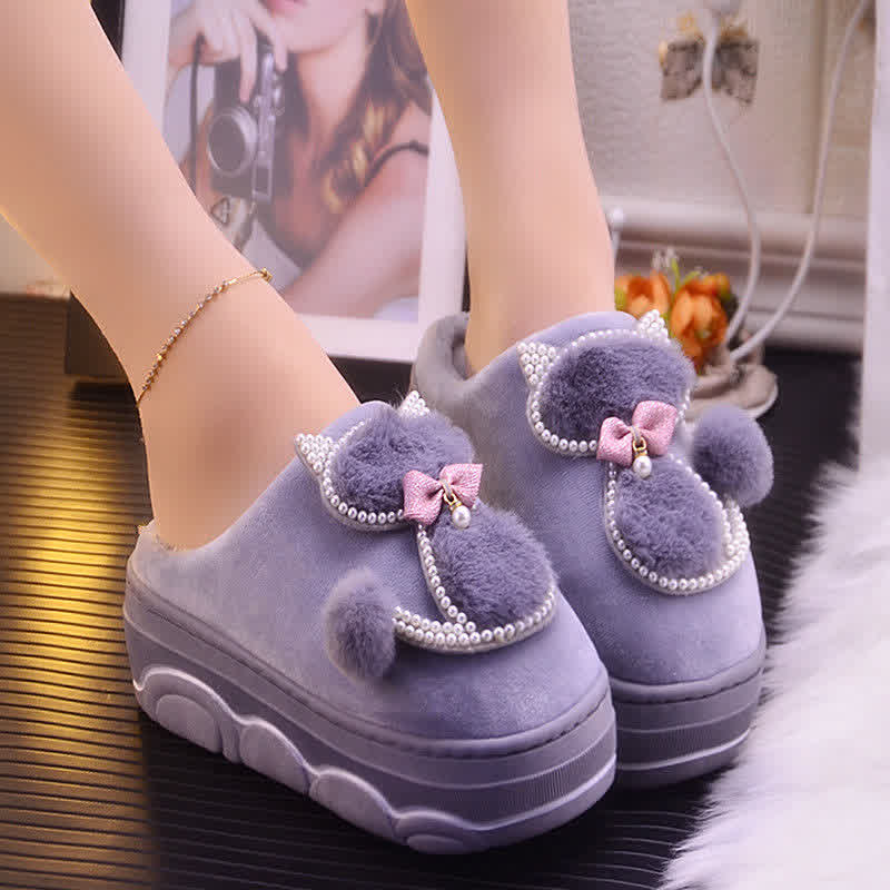 Ladies Sexy Slippers  Warm Slippers For Women Indoor House Slippers Cat Girls