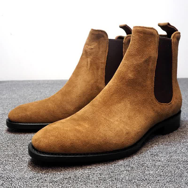 Chelsea Boots Men Shoes 2020 New Men Boots Luxury Winter Boots Men Ankle Boots Male Dress Shoes Plus