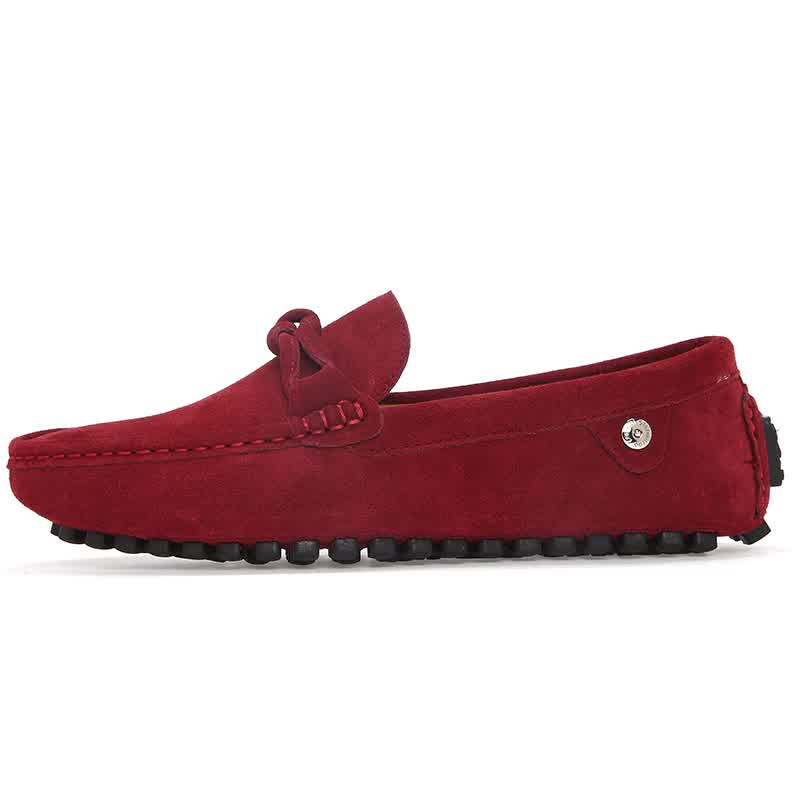 New Men Loafers Moccasins Casual Suede Leather Shoes