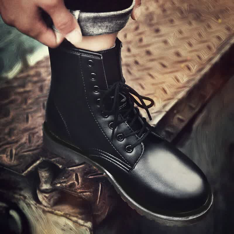 Women Leather shoes High Top Fashion Winter Warm Snow shoes