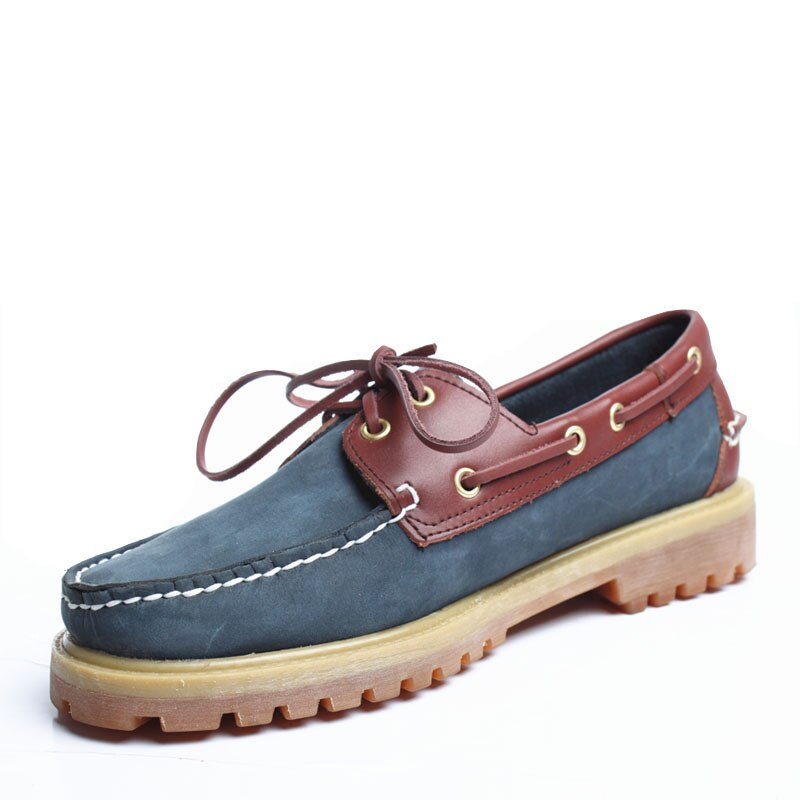 GenuineLeather Mens Casual Shoes Deck Moccain Loafers Driving shoes Unisex England Flats Docksides Classic Boat Shoes fashion