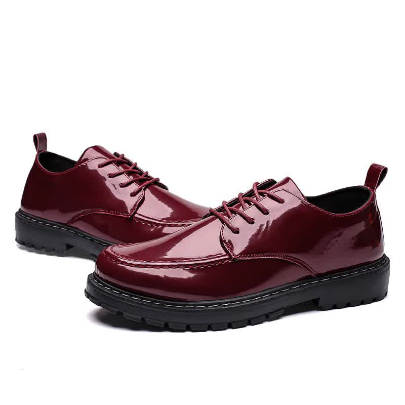 Leather Men's Ankle Martin Shoes Autumn Winter Fashion Men Martin Low Top High Male Leather Oxfords