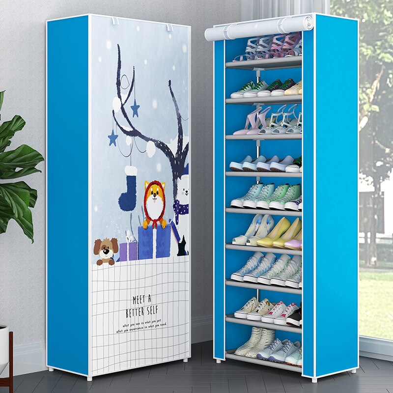 Multi Layers Shoe Rack Nonwoven Fabric Storage Shoes Closet DIY Assembled Stand Holder Space Saver Simple Shoe Cabinet