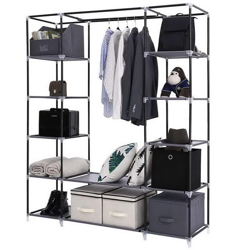 Non-woven Cloth Wardrobe Bedroom Folding Clothing Storage Cabinet Dustproof Moistureproof Closet Storage Furniture