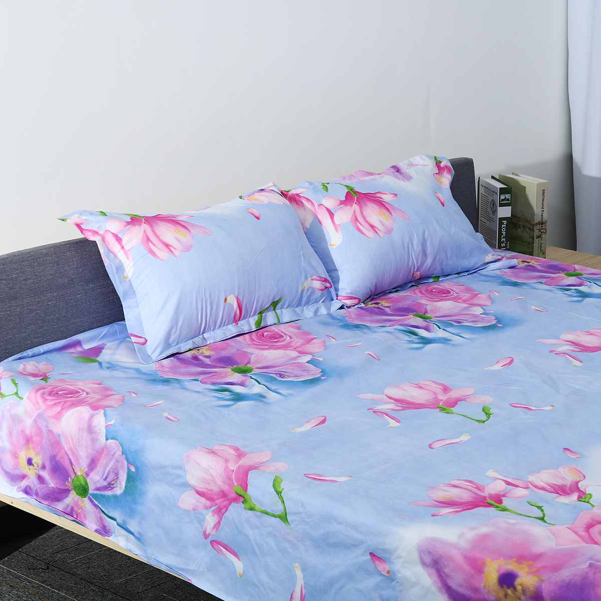 Rose Cotton Wedding Bedding Set Queen/King/Single Pillowcases Duvet Cover Bed Set Bedspread Bedclothes With/Without Bed Sheet