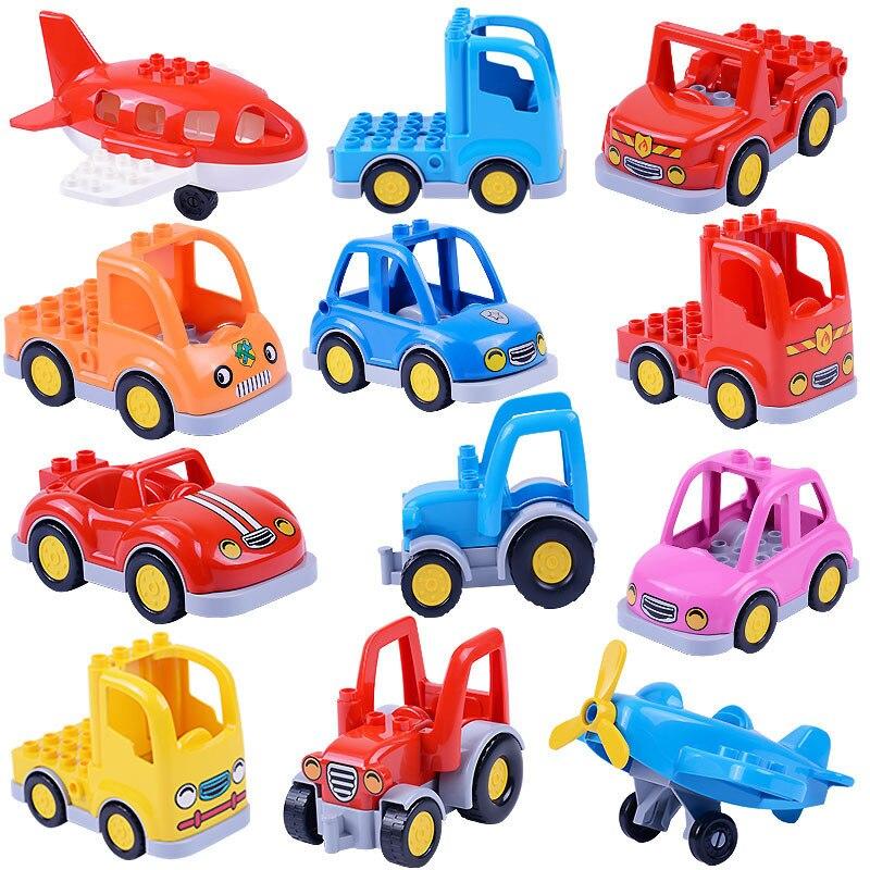 Brick Toys For Children Big Size Classic City Traffic Series Building Block Assemble Bus Car