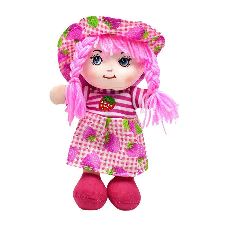 25cm Cartoon Fruit Skirt Hat Rag Dolls Soft Cute Cloth Stuffed Toys for Baby Pretend Play Girls Birthday Christmas Gifts