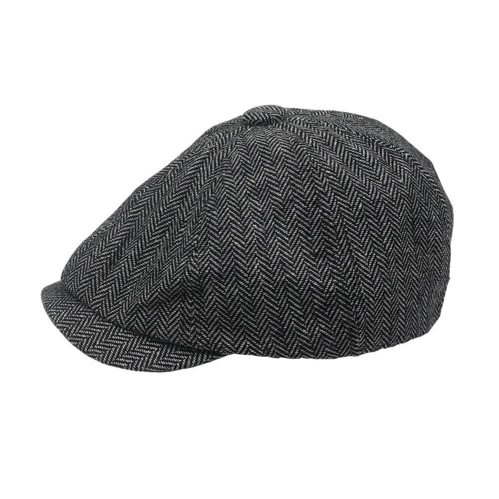 Mens Newsboy Cap  Peaky Blinders Herringbone  Boy Hat