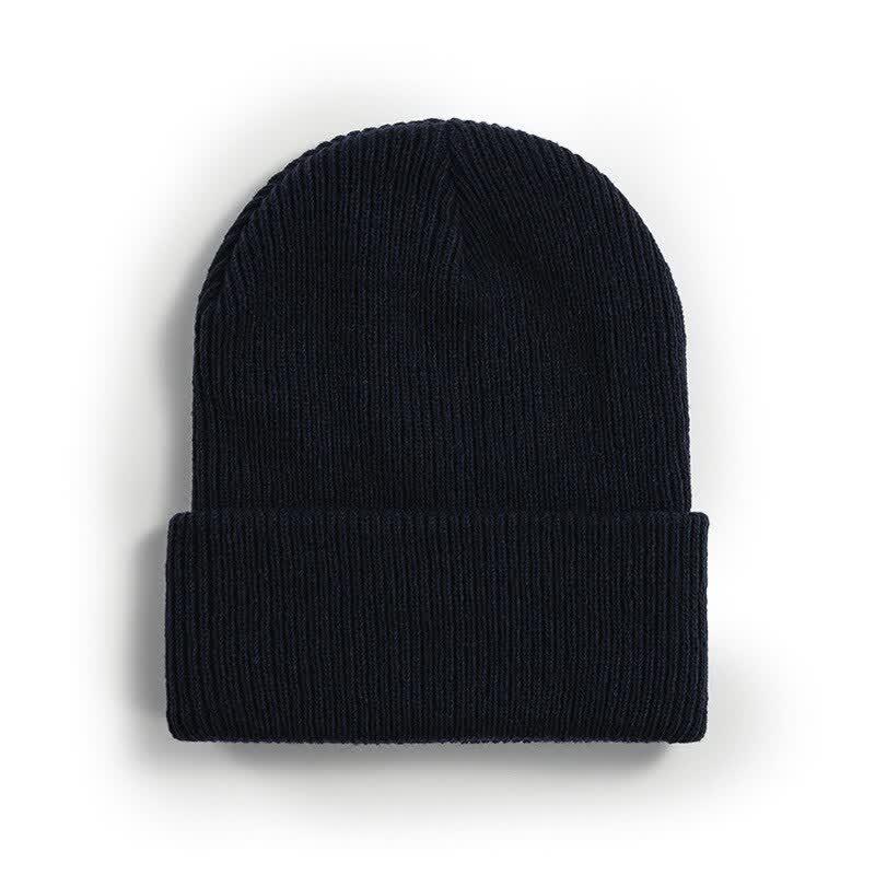 New women's autumn winter fashion knit cap men winter warm wrap lengthened wool hat