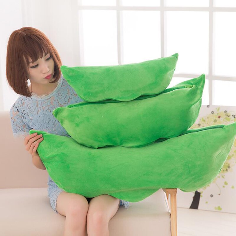 Cute children's baby plush peas filled plant doll toy children quality pea-shaped pillow toy boy girl gift