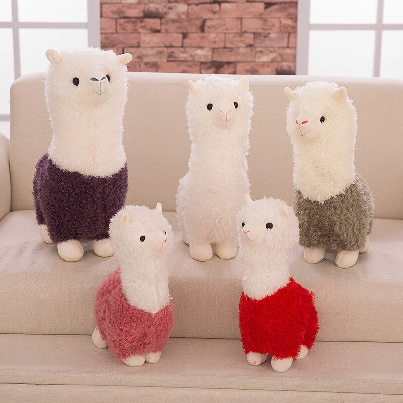 25cm Cute Alpaca Plush Toy Kids Real Doll Pillow Animal Lama Stuffed Soft Toy Birthday Decoration Gifts Bed For Girls Children