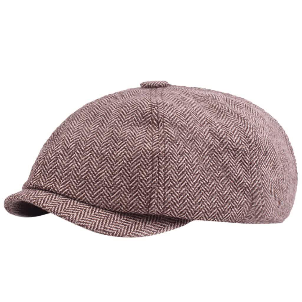 Autumn  Beret Caps Outdoor Sun Breathable Newsboy Hats Womens Mens Herringbone Solid Flat Berets Cap Hat Gatsby Hat