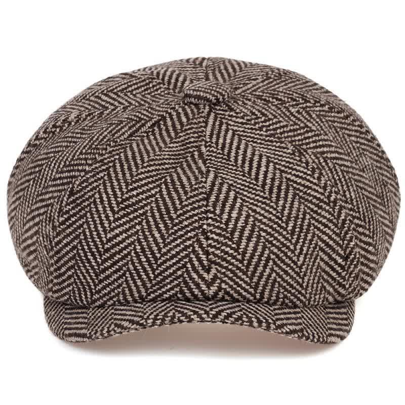 Fashion Wool Newsboy Caps Mens Herringbone Flat Caps Women Men Hats Soft Autumn Winter Caps Hats casquette