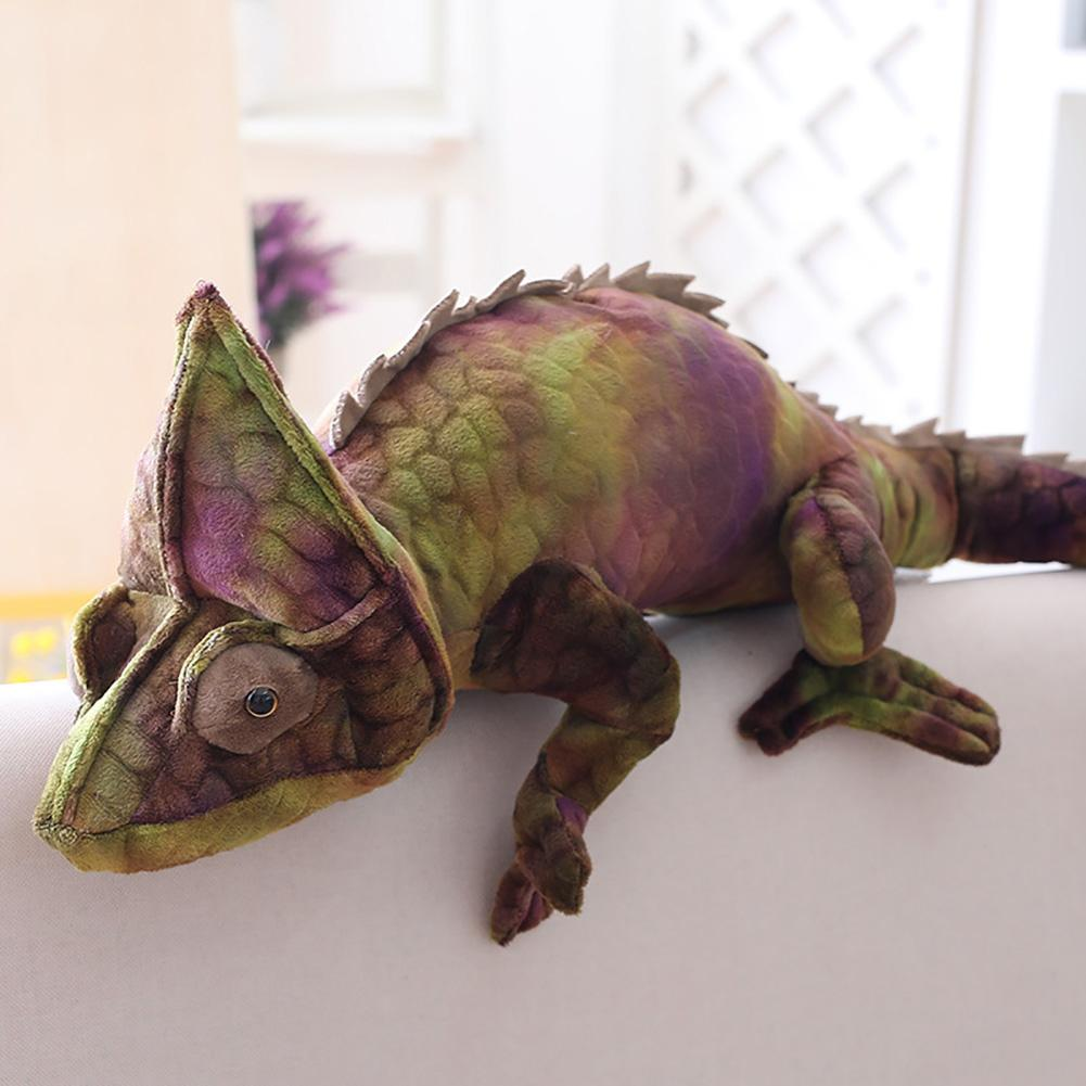28inch Simulated Chameleon Animal Model Doll Plush Stuffed Toy Soft Flexible And Hugable Design With High-quality Plush Material