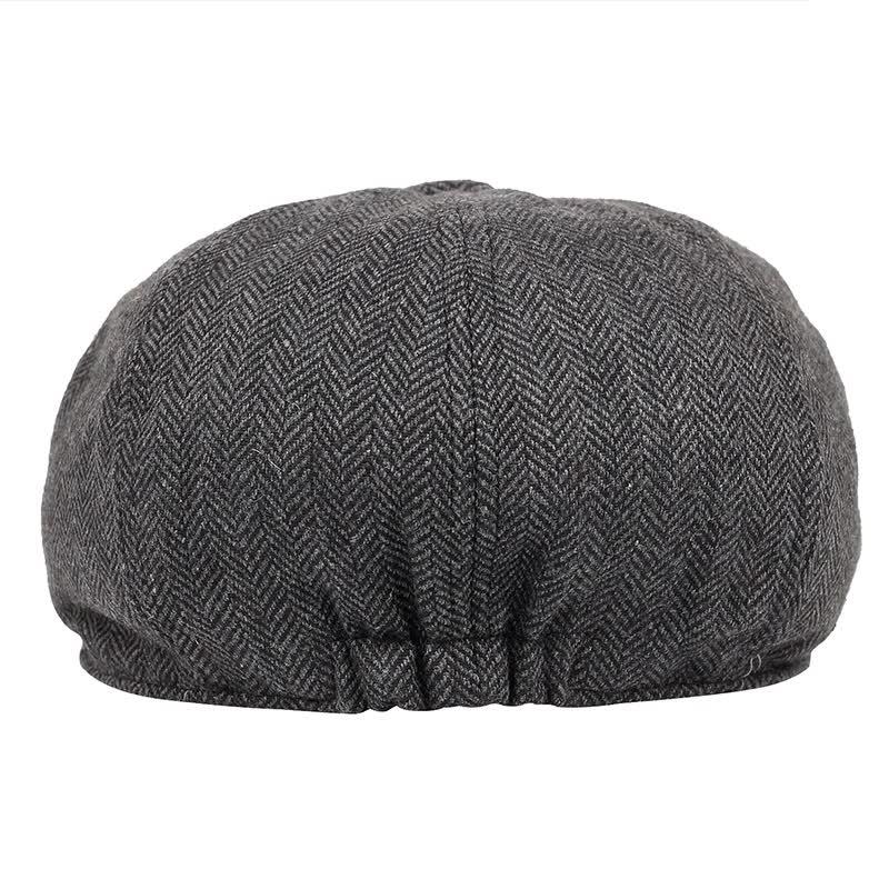 Men vintage Herringbone  peaky blinders hat Newsboy Hat spring Flat Peaked Hats